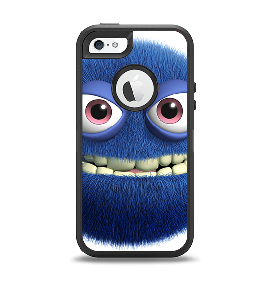 The Angry Blue Fury Monster Apple iPhone 5-5s Otterbox Defender Case Skin Set