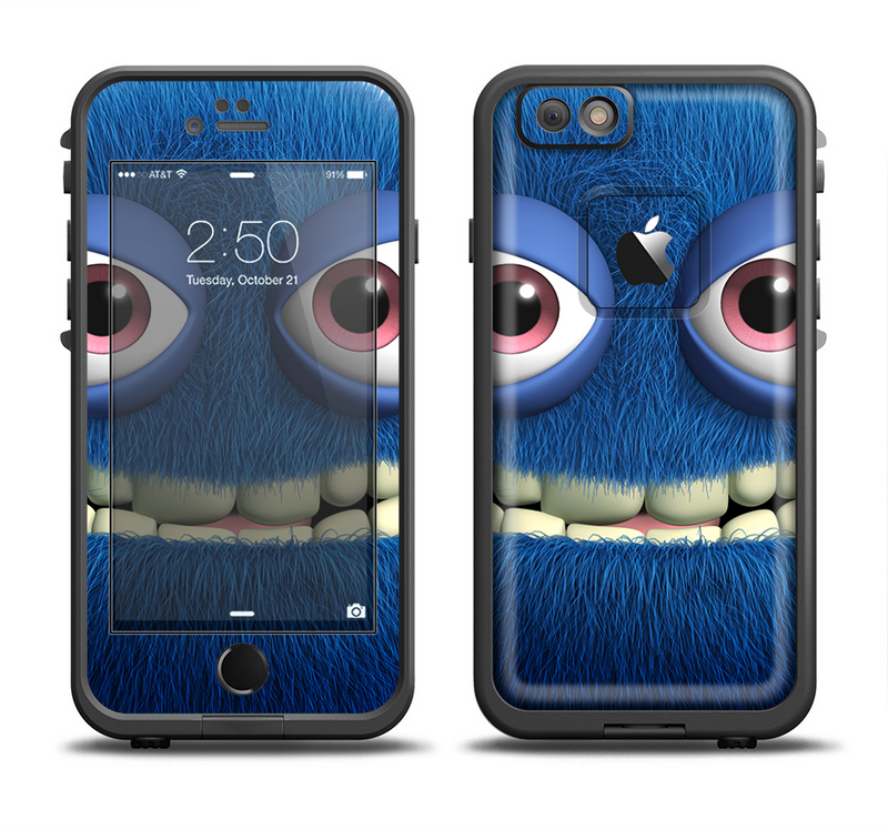 The Angry Blue Fury Monster Apple iPhone 6/6s LifeProof Fre Case Skin Set