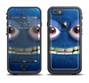 The Angry Blue Fury Monster Apple iPhone 6/6s Plus LifeProof Fre Case Skin Set