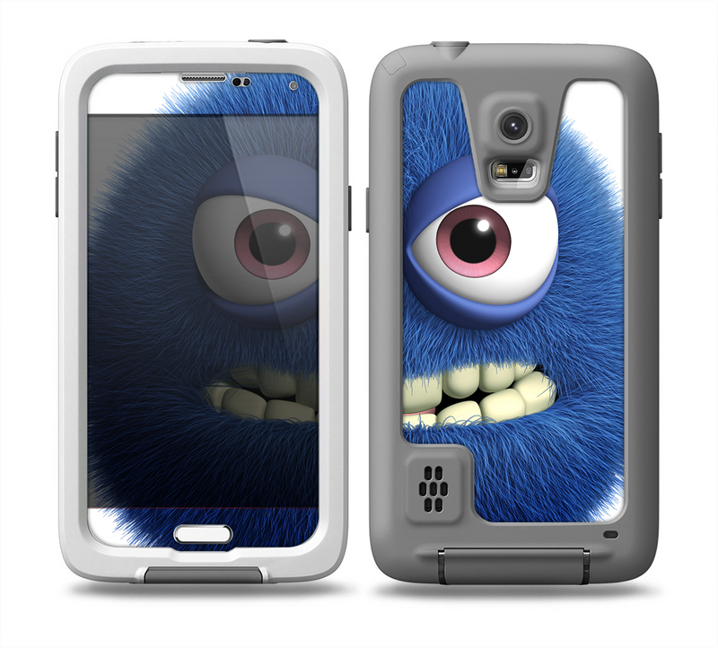 The Angry Blue Fury Monster Skin for the Samsung Galaxy S5 frē LifeProof Case