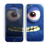 The Angry Blue Fury Monster Skin for the Apple iPhone 5c