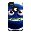 The Angry Blue Fury Monster Skin for the iPhone 4-4s OtterBox Commuter Case