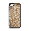 The Antique Floral Lace Pattern Apple iPhone 5-5s Otterbox Symmetry Case Skin Set