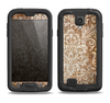 The Antique Floral Lace Pattern Samsung Galaxy S4 LifeProof Fre Case Skin Set