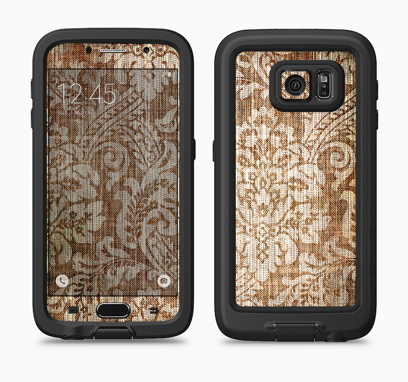 The Antique Floral Lace Pattern Full Body Samsung Galaxy S6 LifeProof Fre Case Skin Kit