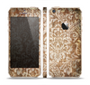 The Antique Floral Lace Pattern Skin Set for the Apple iPhone 5s