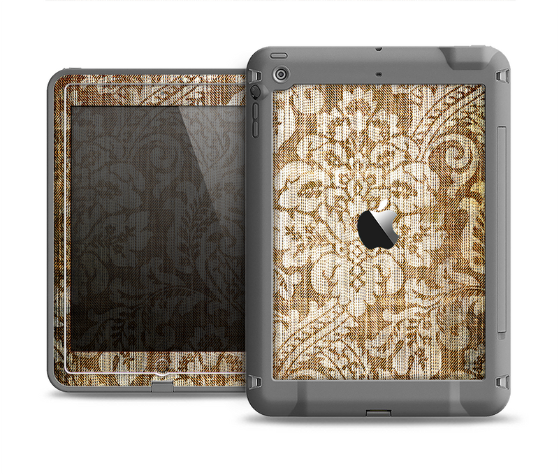 The Antique Floral Lace Pattern Apple iPad Air LifeProof Fre Case Skin Set