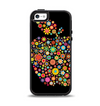 The Apple Icon Floral Collage Apple iPhone 5-5s Otterbox Symmetry Case Skin Set