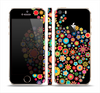 The Apple Icon Floral Collage Skin Set for the Apple iPhone 5s
