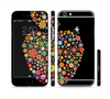 The Apple Icon Floral Collage Sectioned Skin Series for the Apple iPhone 6 Plus