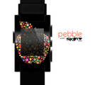 The Apple Icon Floral Collage Skin for the Pebble SmartWatch