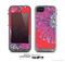 The Artistic Purple & Coral Floral Skin for the Apple iPhone 5c LifeProof Case