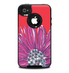 The Artistic Purple & Coral Floral Skin for the iPhone 4-4s OtterBox Commuter Case