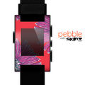 The Artistic Purple & Coral Floral Skin for the Pebble SmartWatch