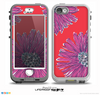 The Artistic Purple & Coral Floral Skin for the iPhone 5-5s NUUD LifeProof Case
