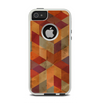 The Autumn Colored Geometric Pattern Apple iPhone 5-5s Otterbox Commuter Case Skin Set