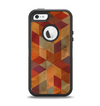 The Autumn Colored Geometric Pattern Apple iPhone 5-5s Otterbox Defender Case Skin Set