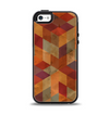The Autumn Colored Geometric Pattern Apple iPhone 5-5s Otterbox Symmetry Case Skin Set