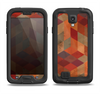 The Autumn Colored Geometric Pattern Samsung Galaxy S4 LifeProof Nuud Case Skin Set