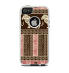 The Aztec Pink & Brown Lion Pattern Apple iPhone 5-5s Otterbox Commuter Case Skin Set