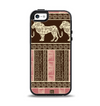 The Aztec Pink & Brown Lion Pattern Apple iPhone 5-5s Otterbox Symmetry Case Skin Set