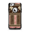 The Aztec Pink & Brown Lion Pattern Apple iPhone 6 Otterbox Commuter Case Skin Set
