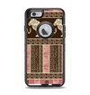 The Aztec Pink & Brown Lion Pattern Apple iPhone 6 Otterbox Defender Case Skin Set