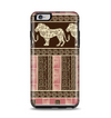 The Aztec Pink & Brown Lion Pattern Apple iPhone 6 Plus Otterbox Symmetry Case Skin Set