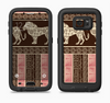The Aztec Pink & Brown Lion Pattern Full Body Samsung Galaxy S6 LifeProof Fre Case Skin Kit