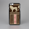 The Aztec Pink & Brown Lion Pattern Skin-Sert Case for the Apple iPhone 6 Plus