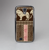 The Aztec Pink & Brown Lion Pattern Skin-Sert Case for the Samsung Galaxy S4