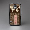 The Aztec Pink & Brown Lion Pattern Skin-Sert Case for the Samsung Galaxy S5