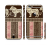 The Aztec Pink & Brown Lion Pattern Sectioned Skin Series for the Apple iPhone 6