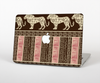 The Aztec Pink & Brown Lion Pattern Skin Set for the Apple MacBook Air 11""