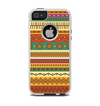 The Aztec Tribal Vintage Tan and Gold Pattern V6 Apple iPhone 5-5s Otterbox Commuter Case Skin Set