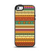 The Aztec Tribal Vintage Tan and Gold Pattern V6 Apple iPhone 5-5s Otterbox Symmetry Case Skin Set