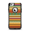 The Aztec Tribal Vintage Tan and Gold Pattern V6 Apple iPhone 6 Otterbox Commuter Case Skin Set
