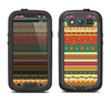 The Aztec Tribal Vintage Tan and Gold Pattern V6 Samsung Galaxy S4 LifeProof Nuud Case Skin Set