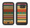 The Aztec Tribal Vintage Tan and Gold Pattern V6 Full Body Samsung Galaxy S6 LifeProof Fre Case Skin Kit
