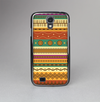 The Aztec Tribal Vintage Tan and Gold Pattern V6 Skin-Sert Case for the Samsung Galaxy S4