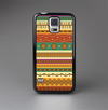The Aztec Tribal Vintage Tan and Gold Pattern V6 Skin-Sert Case for the Samsung Galaxy S5