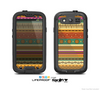 The Aztec Tribal Vintage Tan and Gold Pattern V6 Skin For The Samsung Galaxy S3 LifeProof Case