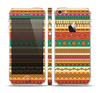 The Aztec Tribal Vintage Tan and Gold Pattern V6 Skin Set for the Apple iPhone 5