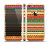 The Aztec Tribal Vintage Tan and Gold Pattern V6 Skin Set for the Apple iPhone 5s
