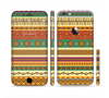 The Aztec Tribal Vintage Tan and Gold Pattern V6 Sectioned Skin Series for the Apple iPhone 6 Plus