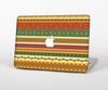 The Aztec Tribal Vintage Tan and Gold Pattern V6 Skin Set for the Apple MacBook Air 11""
