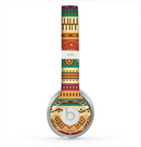 The Aztec Tribal Vintage Tan and Gold Pattern V6 Skin for the Beats by Dre Solo 2 Headphones