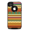 The Aztec Tribal Vintage Tan and Gold Pattern V6 Skin for the iPhone 4-4s OtterBox Commuter Case