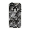 The Back & White Abstract Swirl Pattern Apple iPhone 5-5s Otterbox Commuter Case Skin Set