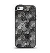 The Back & White Abstract Swirl Pattern Apple iPhone 5-5s Otterbox Symmetry Case Skin Set